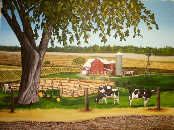farm mural church wall pinterest love farms and scene