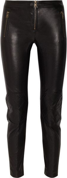 ALexander MCQUEEN  Paneled Leather Skinny Pants as seen on Kate Moss - The other Royal Kate ,-D  dressmesweetiedarling