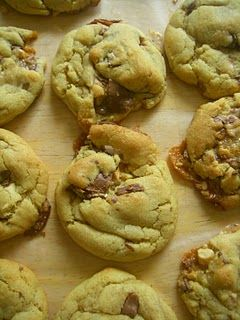Pudding Cookies...Another pinner: seriously the best ever chocolate chip cookies.  We agree with the Sunday Baker that these cookies turn out every time! We even substituted instant chocolate pudding for the instant vanilla pudding and put milk chocolate chips and peanut butter chips for our add-ins...delicious:)