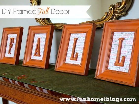 capture fall in frames for a cute mantle decoration.