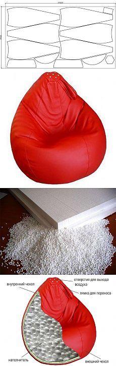 Как сделать кресло-мешок своими руками?: