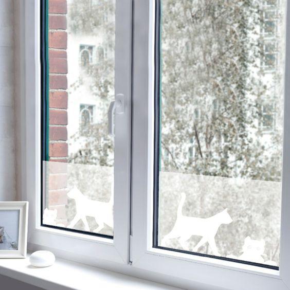 Dekoration Fur Kleine Fenster : fensterfolie einfach  Sichtschutzfolie für Fenster – 23