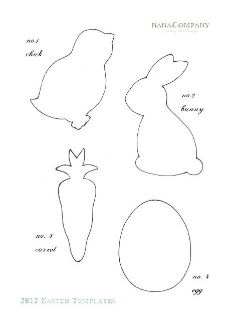Free+Printable+Easter+Template+for+Easter+Scrap+Fabric+Decorative+Garland+or+Decorative+Bunting A Fabric Easter Basket And Easter Bunting Ba...