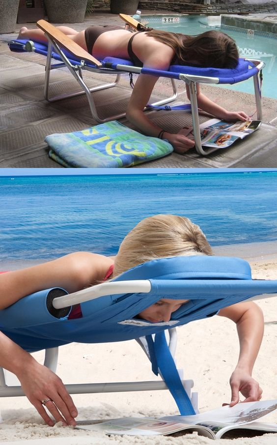 Okay this looks silly but it's a great idea! Lay face down in this Ergonomic Lounger Sport