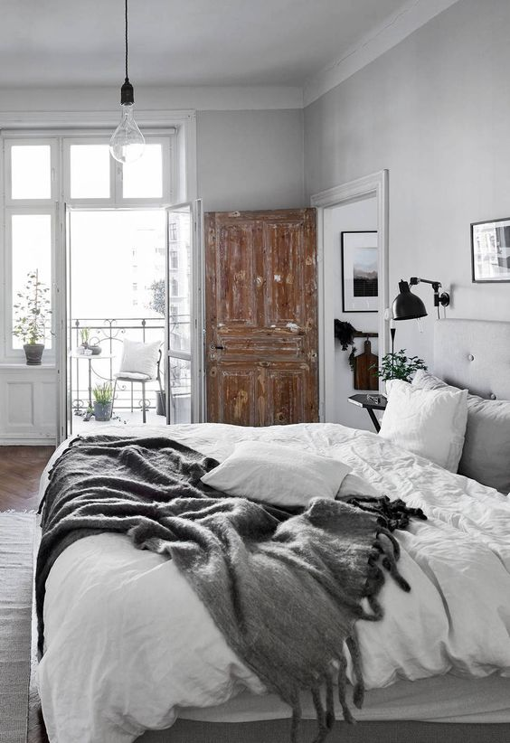 Grey Rustic Bedrooms And Design On Pinterest