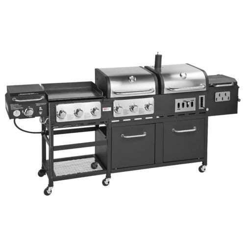 Outdoor Gourmet Pro Triton Supreme 7 Burner Propane And Charcoal Grill Griddle And Smoker Com Dieta Emagrecer Grilling Outdoor Gourmet Grill Grill Smoker