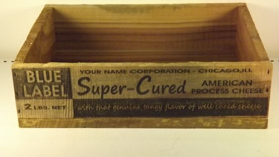 Super Cured Cheese CratePersonalized. by GWCcakepans on Etsy, $25.00