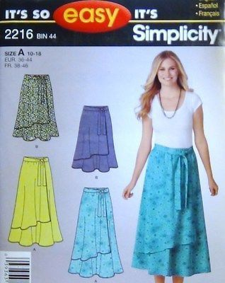 It's so EASY it's Simplicity 2216, Misses' pull onskirt in two lengths Sz 10-18