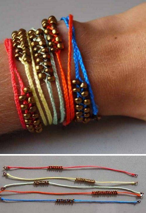 diy braided bead friendship bracelet tutorial from pumps
