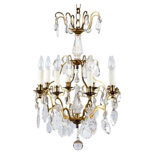 French Napoleon Iii Crystal Chandelier 1870s A Gorgeous French