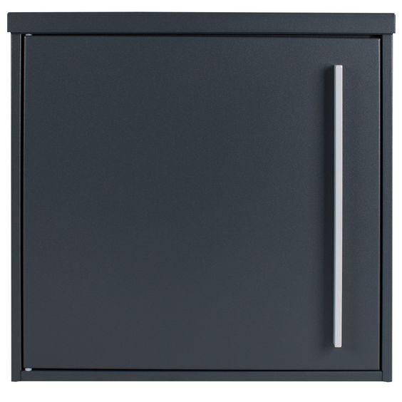 bo te aux lettres murale mocavi box 101 gris anthracite ral 7016 12 litres. Black Bedroom Furniture Sets. Home Design Ideas
