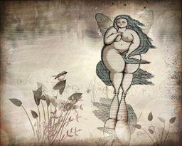 On Fairy Pond - digital art by Terry Fleckney  via @terryfleckney #fantasyart #fatfairy