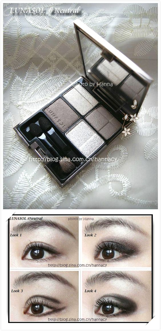 Lunasol eyeshadow palette #Neutral