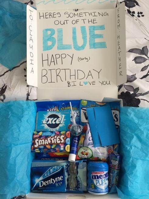 Something Out Of The Blue Pack Blue Pack Something Diy Christmas Gifts For Friends Diy Birthday Gifts Christmas Gifts For Friends