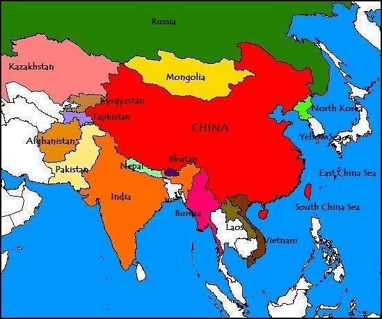 china and its neighbors map China Map Neighbor Countries In Asia China Geograficos china and its neighbors map