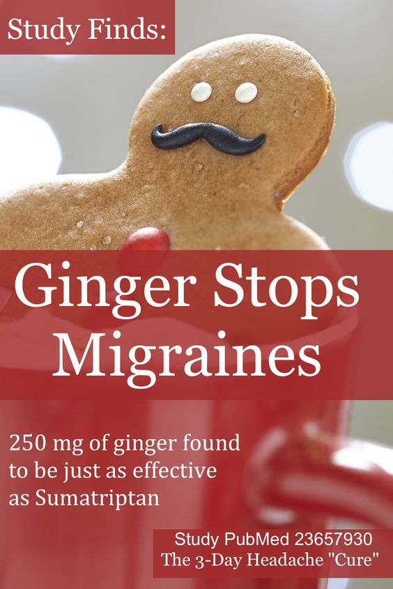Ginger is an ancient Chinese remedy for migraine, yet there were virtually no large clinical trials before this study. Ginger has proven to be as strong as the strongest medication for immediately stopping migraines and comes without the dangerous side effects. Study: http://www.ncbi.nlm.nih.gov/pubmed/23657930