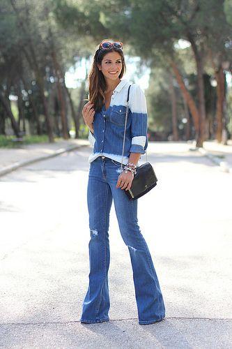 trendy_taste-look-outfit-street_style-ootd-blog-blogger-moda_españa-fashion_spain-hilfiger_denim-denim_total_look-vaqueros_campana-degradado...