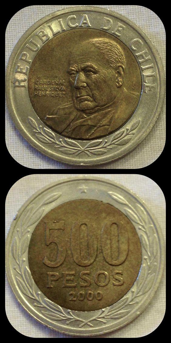 500 Pesos 2000 Chile Alba Coins деньги