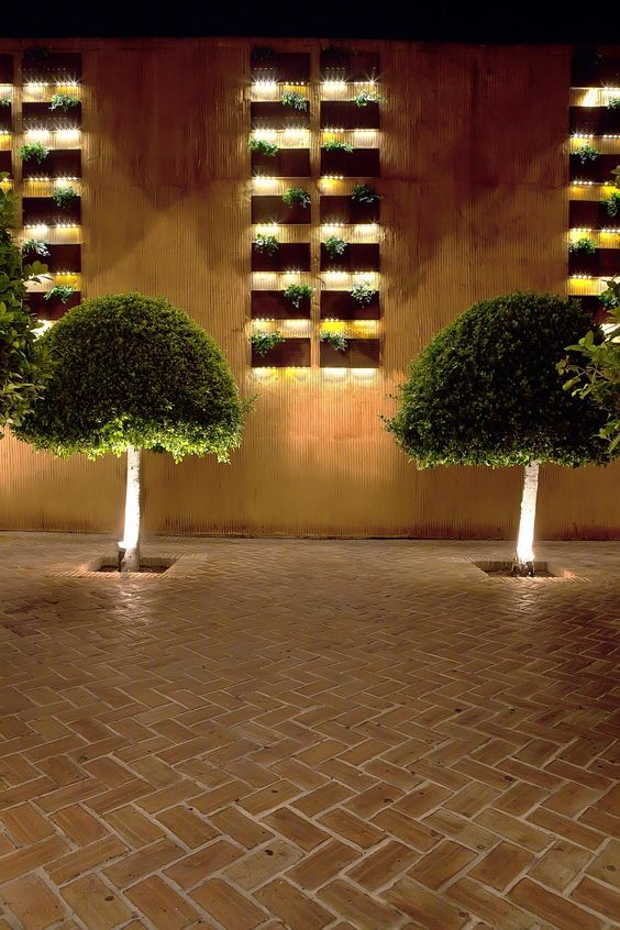 Cascadas vegetales de serastone en olivia valere placas - Iluminacion led para jardines ...