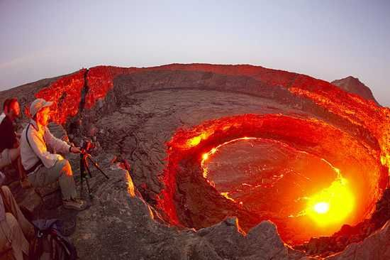 Lago de lava del Volcán Erta Ale, Etiopía