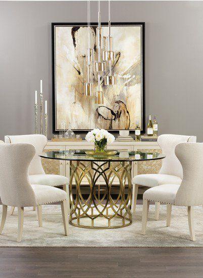 Salon Round Table Apartment Decorating Dining Room