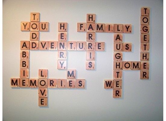 Diy Scrabble Letter Tiles Family Words From Reader Abbie Tutorial By Remodelaholic Scrabble Wall Art Scrabble Wall Art Families Scrabble Wall