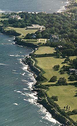 Newport cliff walk; Newport, Rhode Island.