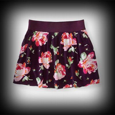 エアロポステール レディース スカート Aeropostale Rose Print Woven Skirt ヴィンテージ スカート-アバクロ 通販 ショップ-【I.T.SHOP】 #ITShop