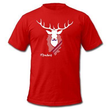 Stylisches Hirschgeweih auf Deinem T-Shirt.