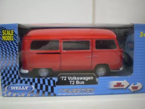 welly '72 volkswagen t2 bus/kombi - escala 1/38