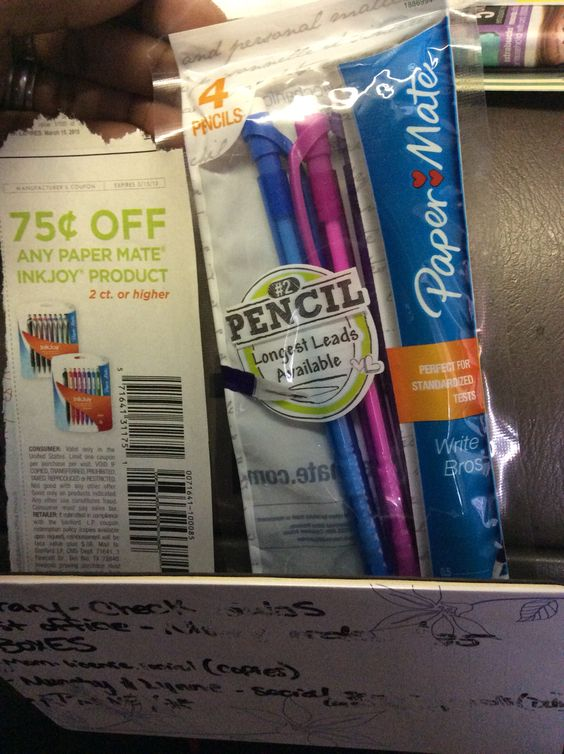 25 cents pencils! Coupons get is fun!!