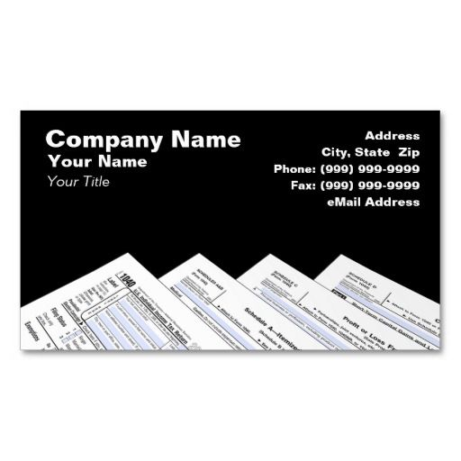 Federal Tax Forms Business Card Business cards, Card templates - income tax extension form