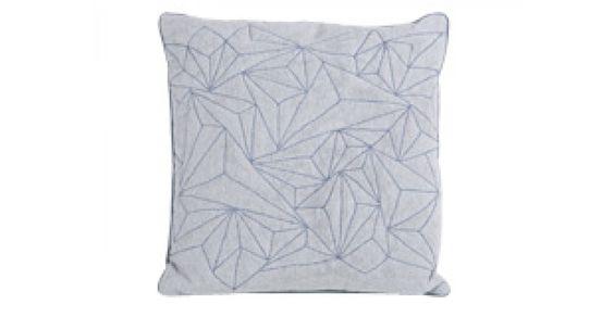 Cuscino trapuntato Apex, grigio perla e azzurro   made.com