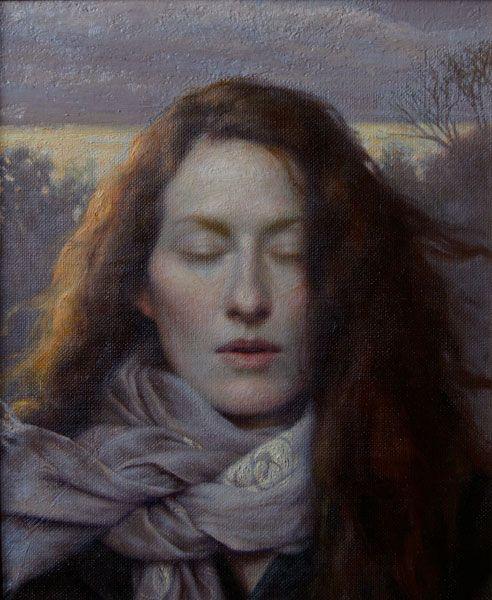 Kamille Corry. Self Portrait.  Preraphaelite reincarnated.: