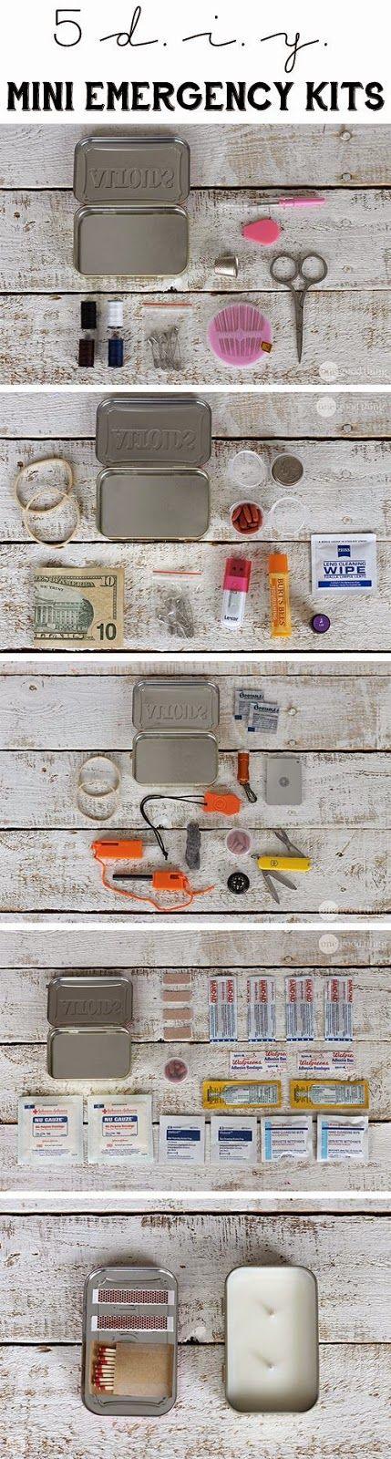 Craft Project Ideas: 5 DIY MINI EMERGENCY KITS