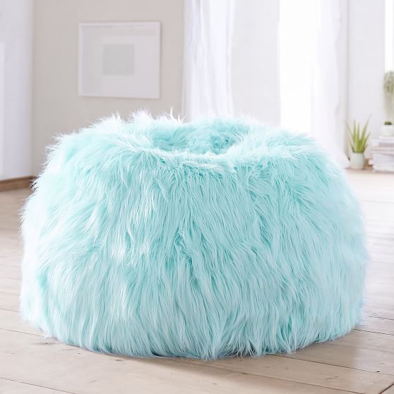 Himalayan Faux Fur Plume Bean Bag Chair In 2020 Bean Bag Chair Tween Girl Bedroom Cute Room Decor