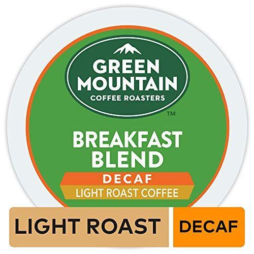 Green Mountain Coffee Roasters Breakfast Blend Decaf Single Serve Coffee K Cup Pod Light Roast 32 Green Mountain Coffee Dark Roast Decaf Coffee