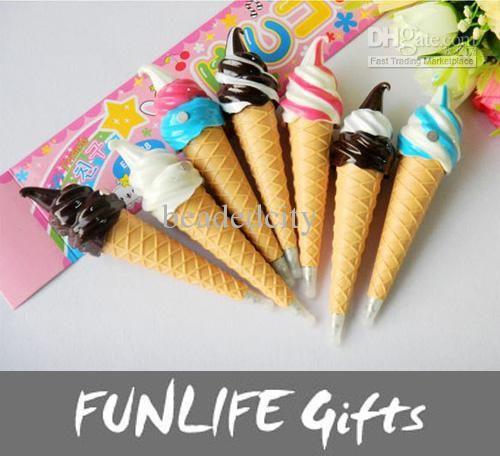 Ice Cream Simulation Ballpoint Pen Fridge magnet, Free shipping, $1.13-1.52/Piece