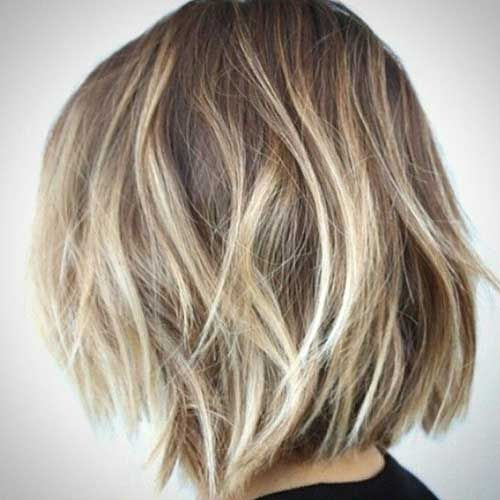 New Blonde Balayage Short Hair