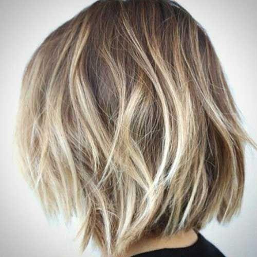 New Blonde Balayage Short Hair