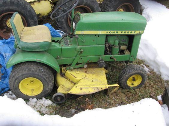 Antique John Deere Lawn Tractors : John deere vintage lawn tractor garden tractors