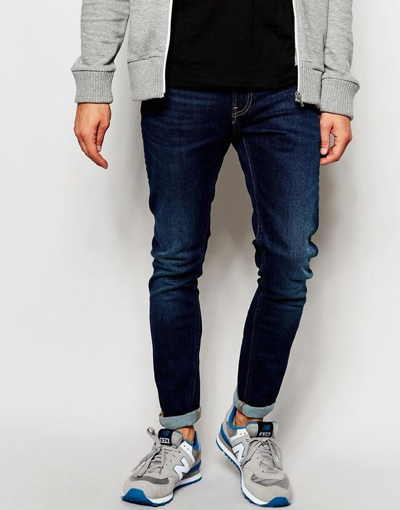 "Jeans by Lee Stretch cotton denim Mid-wash Regular rise Zip fly Tight leg Super skinny fit - cut closest to the body Machine wash 98% Cotton, 2% Elastane Our model wears a 81cm/32"" regular and is 185.5cm/6'1"" tall"