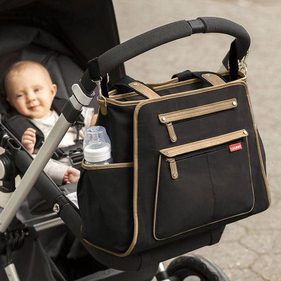 Stylish Diaper Bags For Mom - Love this Skip Hop diaper bag with changing pad and plenty of pockets. Truly a hold-all and available in seven styles. The diaper bag can be wiped clean and is BPA-free & Phthalate-free .
