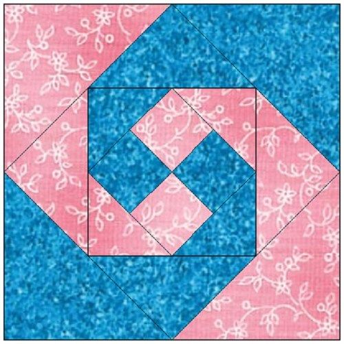All Stitches Monkey Wrench Paper Piecing Quilt Block