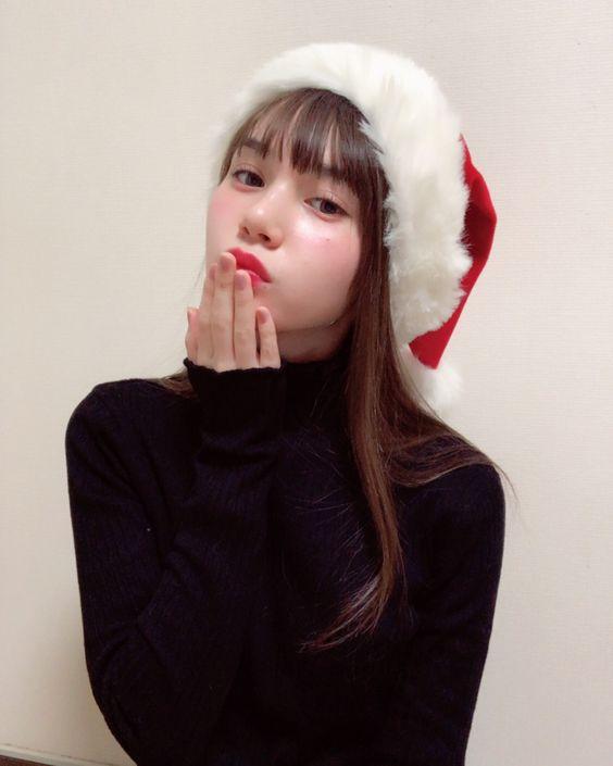 サンタ帽子をかぶるマーシュ彩