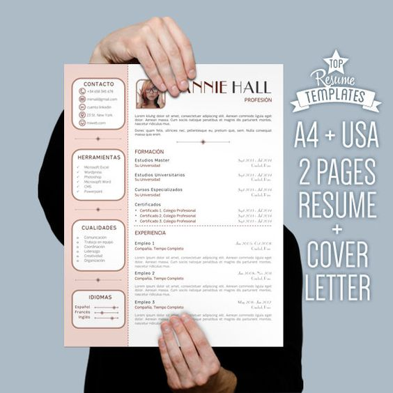 Creative Cv Template With Photo – Two Page Hipster Resume With
