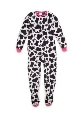 Komar Kids  Cow Printed Fleece Blanket Sleeper Girls 4-12