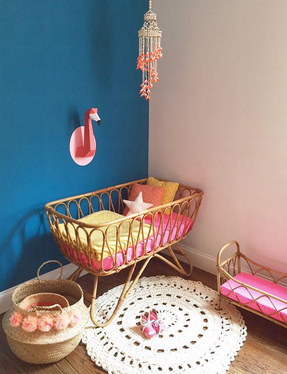 Flamencos de papel para las paredes del cuarto del beb - Paredes habitacion bebe ...