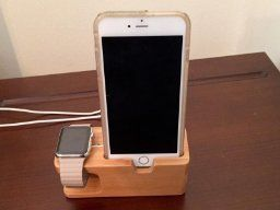 Amazon.com: Apple Watch Stand, Aerb Bamboo Wood Charging Stand Bracket Docking Station Stock Cradle Holder for iPhone and Apple Watch 38mm 42mm: Cell Phones & Accessories