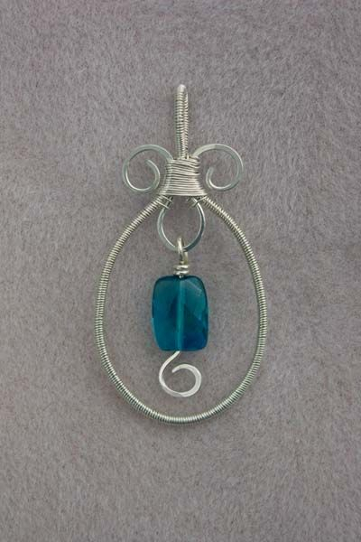 my first tutorial  wire wrapped pendant